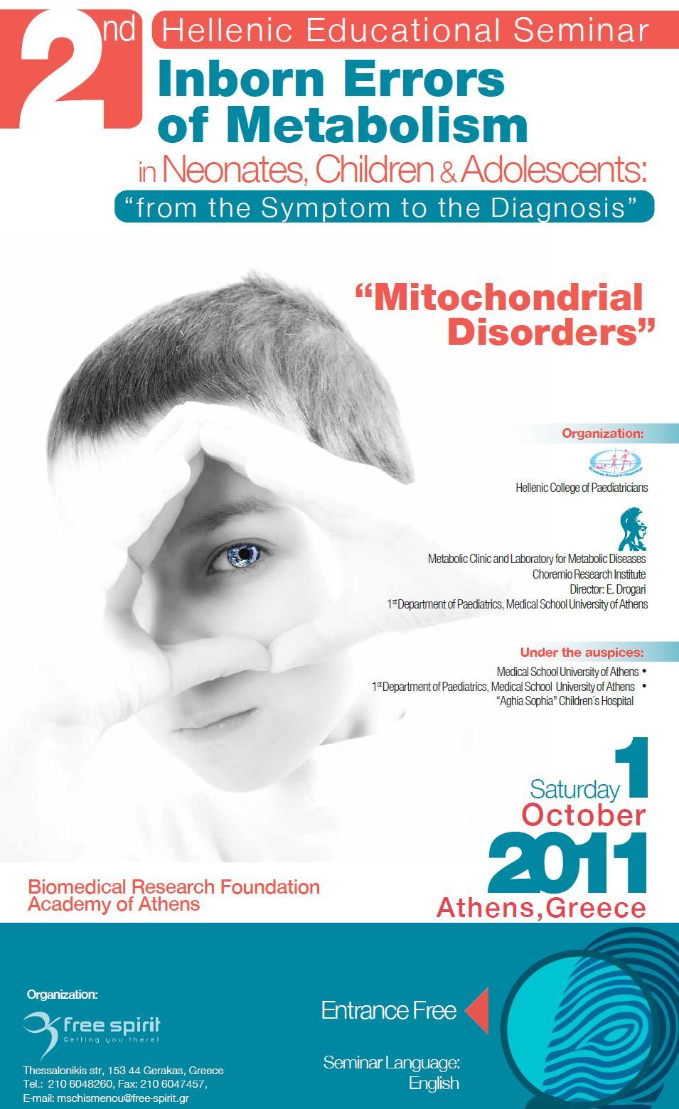 2nd Hellenic Educational Seminar Inborn errors of Metabolism in Neonates, Children & Adolescents