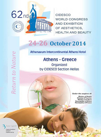 62nd Cidesco World Congress & Exhibition, of Aesthetics, Health & Beauty