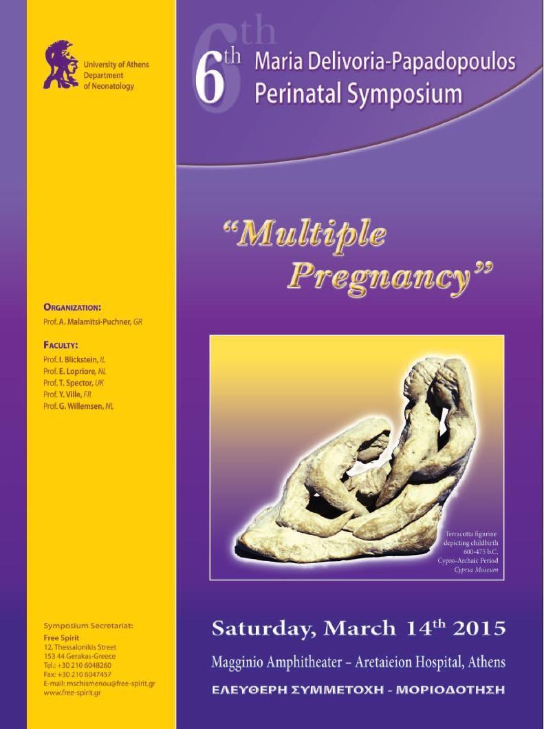 """6th Perinatal Symposium """"Multiple Pregnancy"""""""