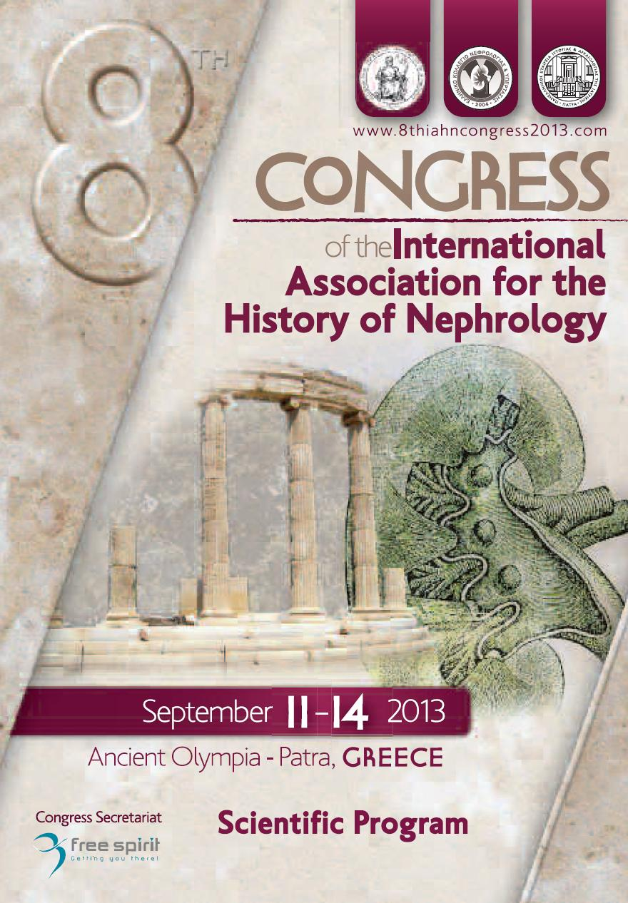 8th Congress of the International Association for the History of Nephrology