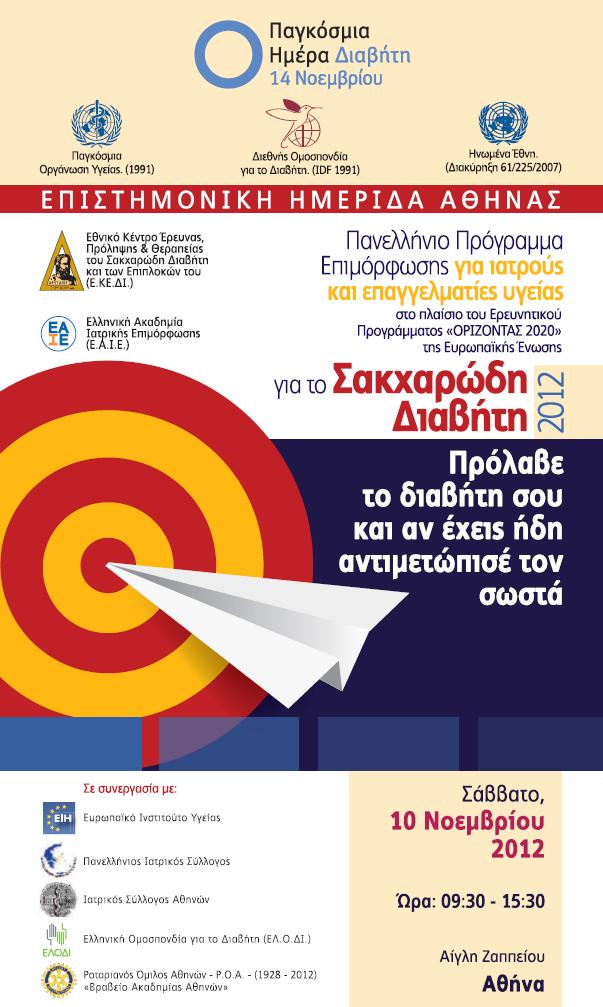 Panhellenic Public Awareness Campaign on Diabetes Mellitus Prevent Diabetes and if you already have it, know how to manage it